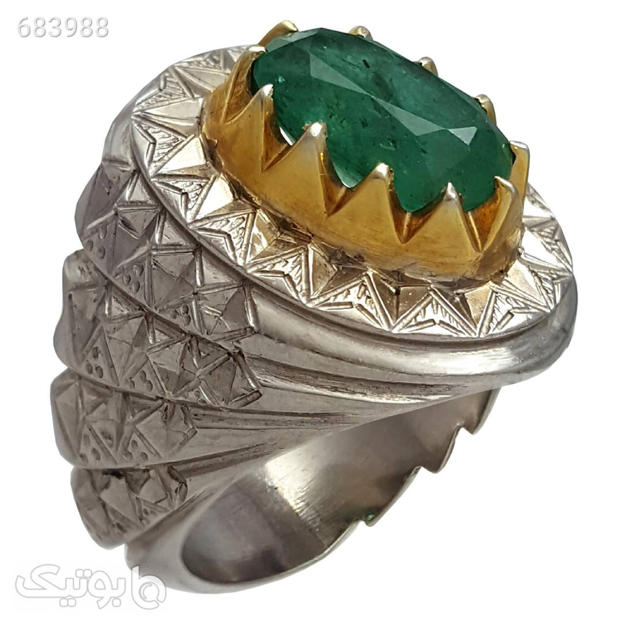 انگشتر نقره مردانه مدل a566jw نقره ای انگشتر
