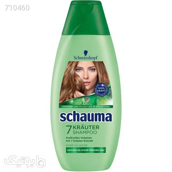 شامپو گیاهی زنانه شاوما مدل 7 Herb حجم 400 میلی لیتر سبز بهداشت و مراقبت مو