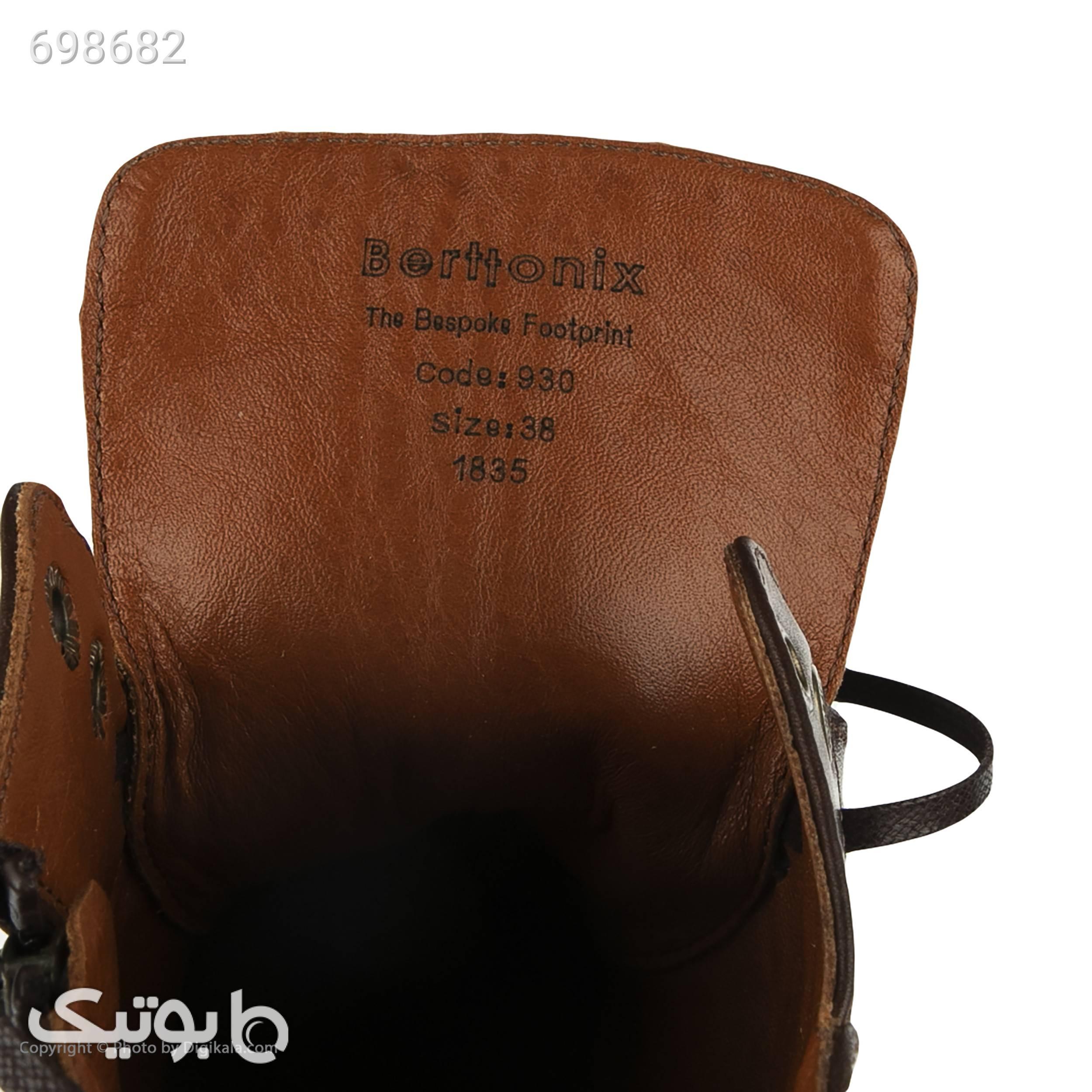 نیم بوت زنانه برتونیکس مدل 930025 قهوه ای بوت زنانه