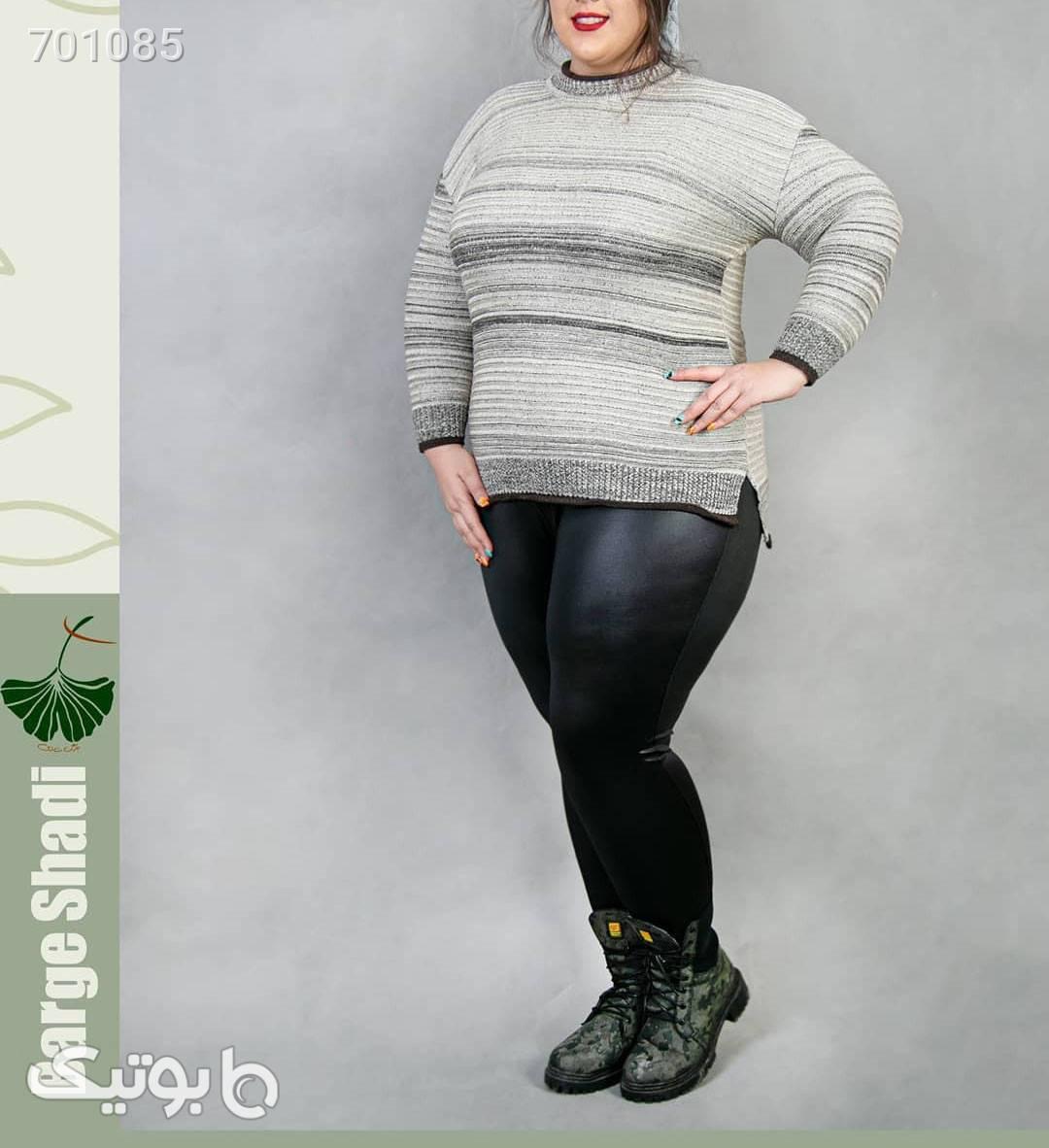 تونیک بافت پشت بلند زرشکی سایز بزرگ زنانه