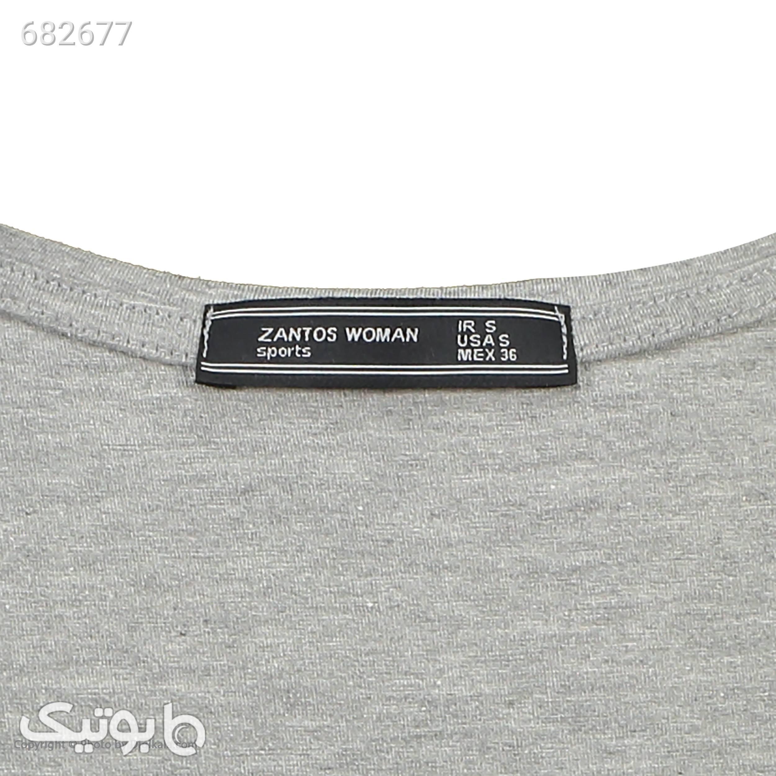 تی شرت زنانه زانتوس مدل 9843793 طوسی تی شرت زنانه