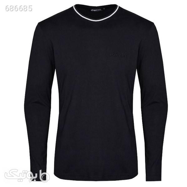 تیشرت آستین بلند مردانه مدل 347015002 مشکی تی شرت و پولو شرت مردانه