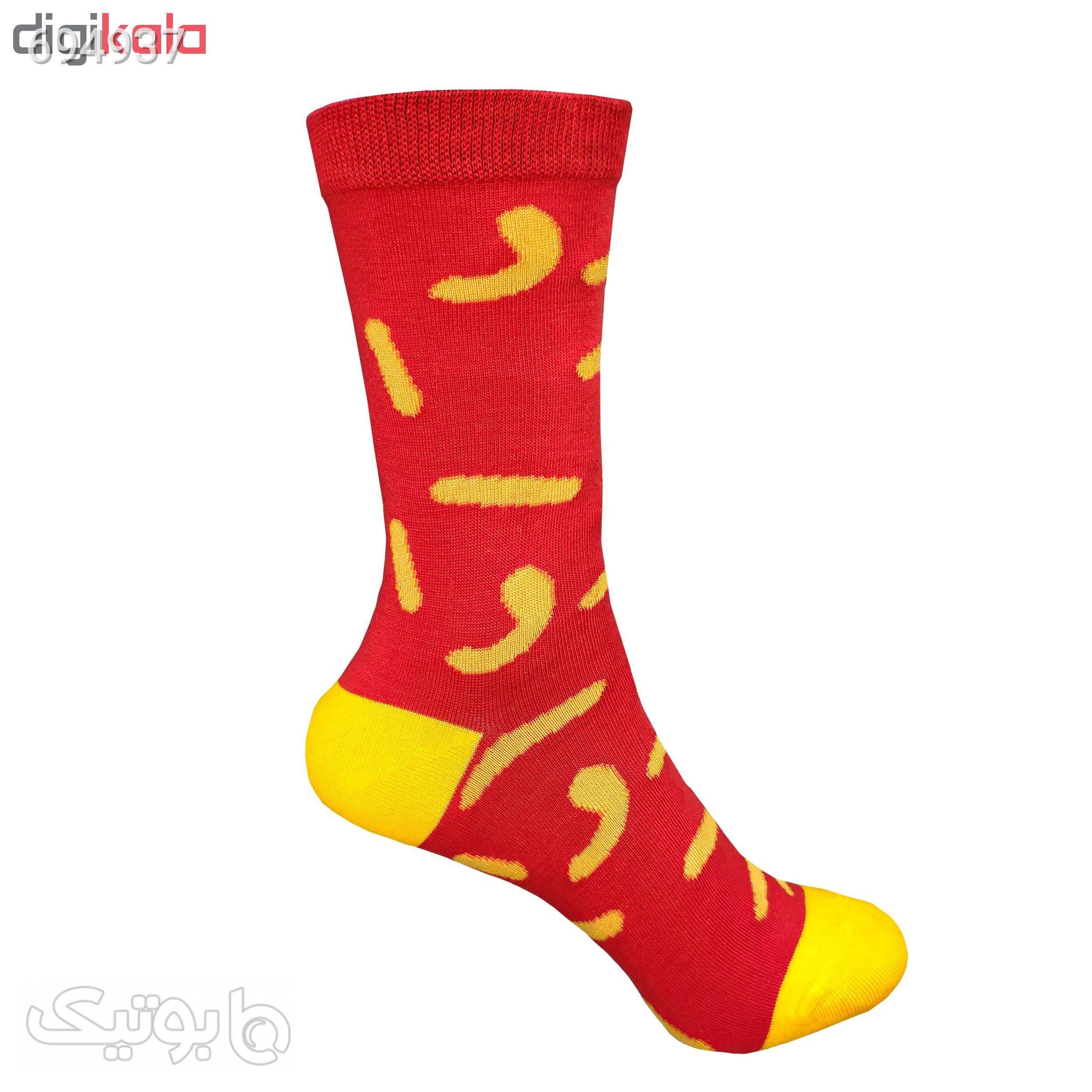جوراب زنانه طرح پفک  قرمز جوراب و پاپوش