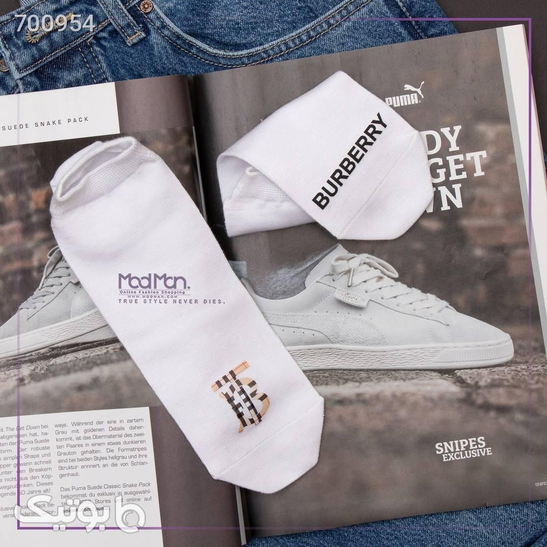 جوراب ساق کوتاه BURBERRY سفید جوراب و پاپوش