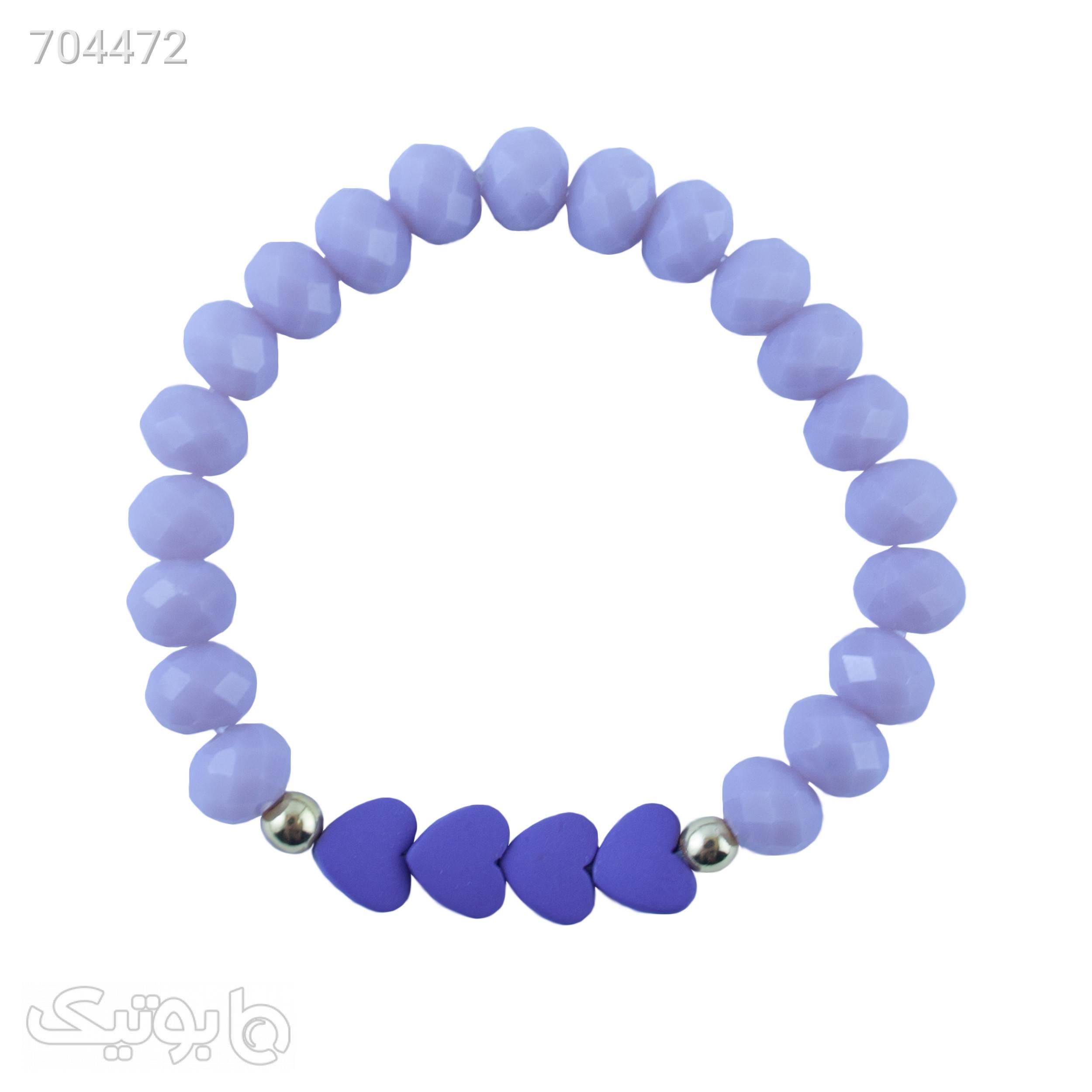 دستبند زنانه طرح قلب کد 1096 طوسی دستبند و پابند