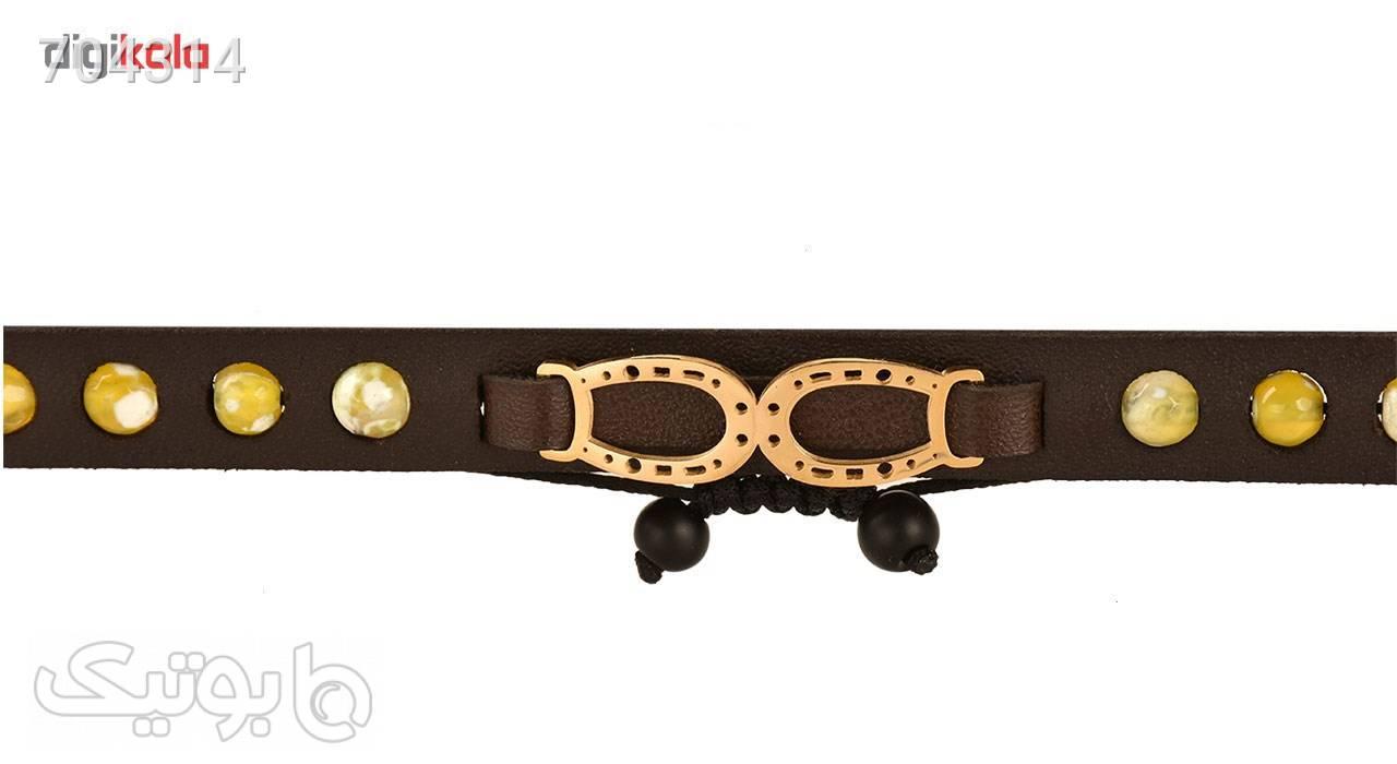 دستبند زنانه کهن چرم مدل BR261 4 قهوه ای دستبند و پابند