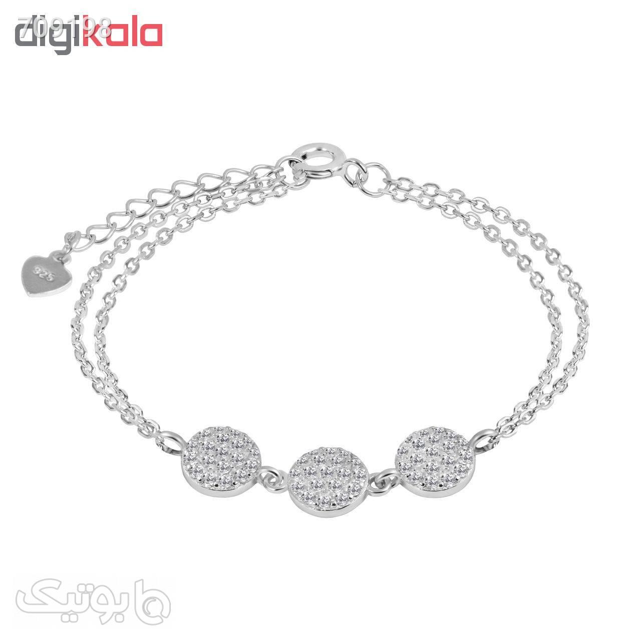 دستبند نقره زنانه اقلیمه کد DN453 نقره ای دستبند و پابند