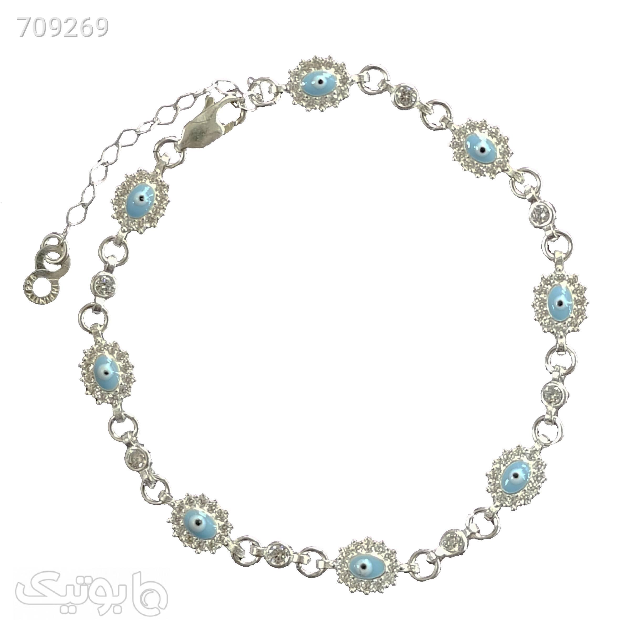 دستبند نقره زنانه سلین کالا مدل cedas11  نقره ای دستبند و پابند