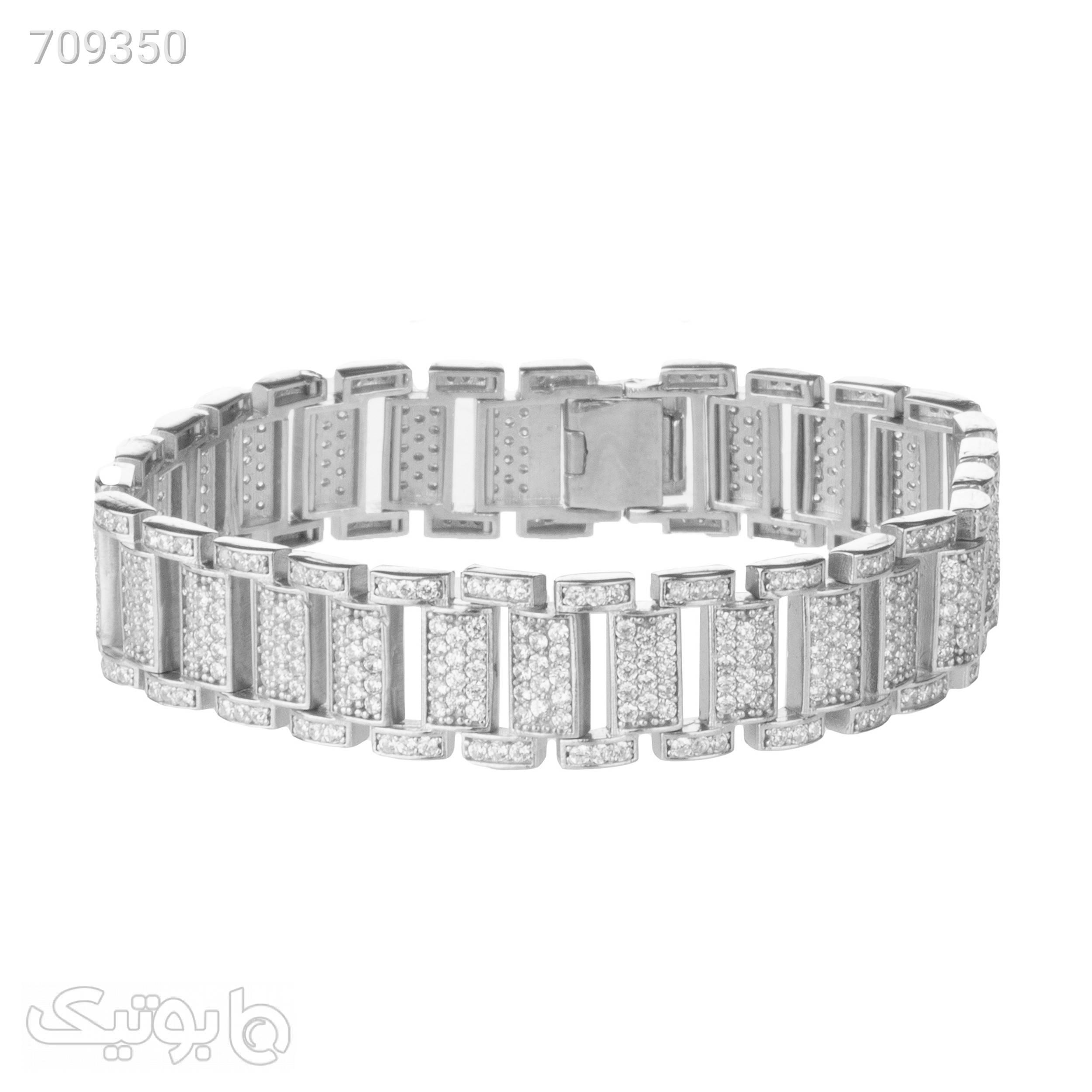 دستبند نقره زنانه سینانر کد SNR045 نقره ای دستبند و پابند