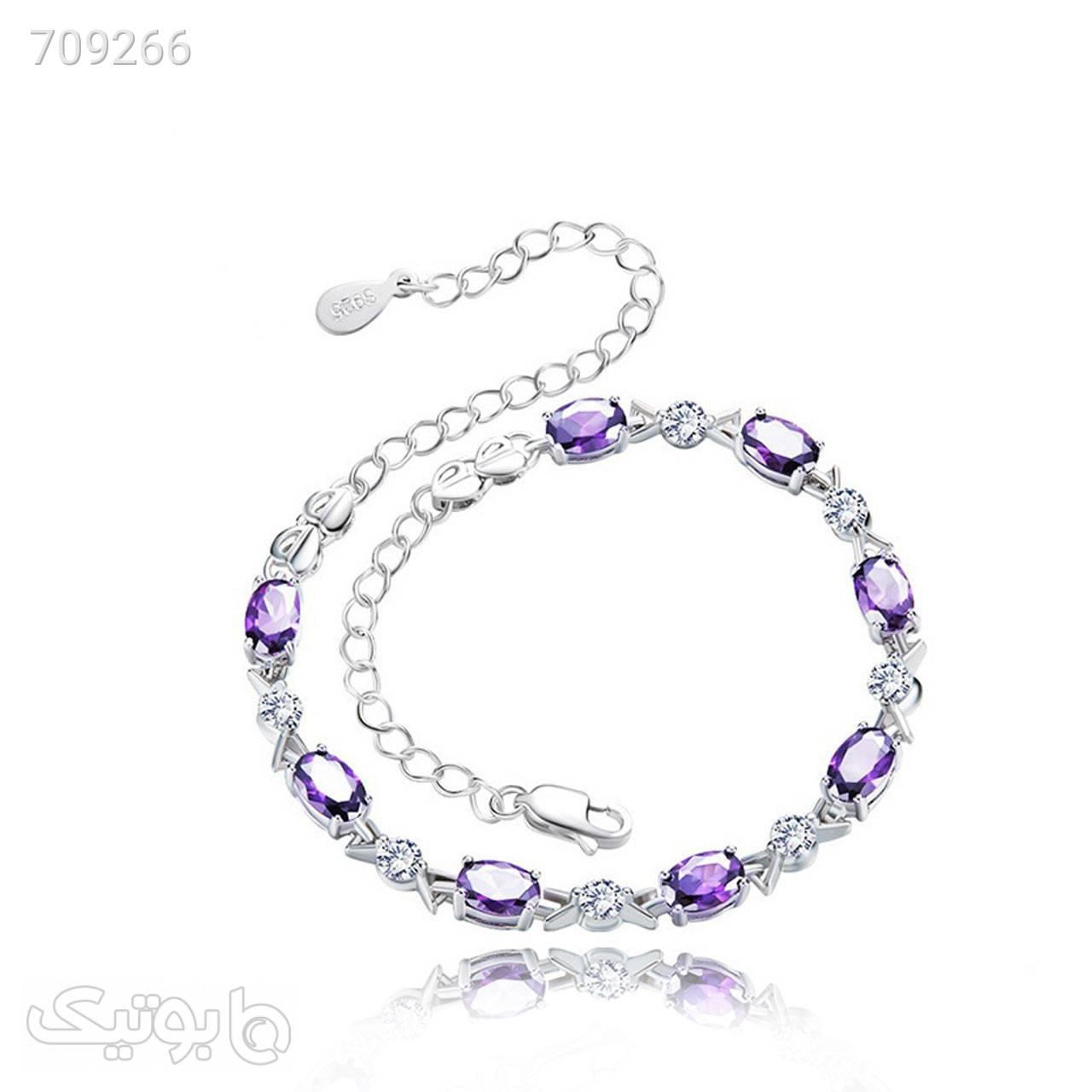 دستبند نقره زنانه کوبیک مدل QB7501 نقره ای دستبند و پابند