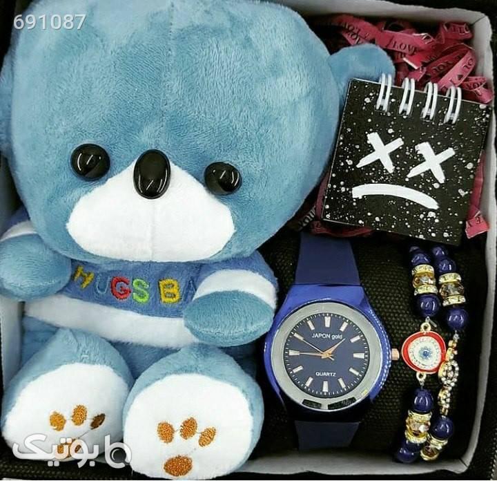 پک کادویی(ولنتاین) آبی دستبند و پابند