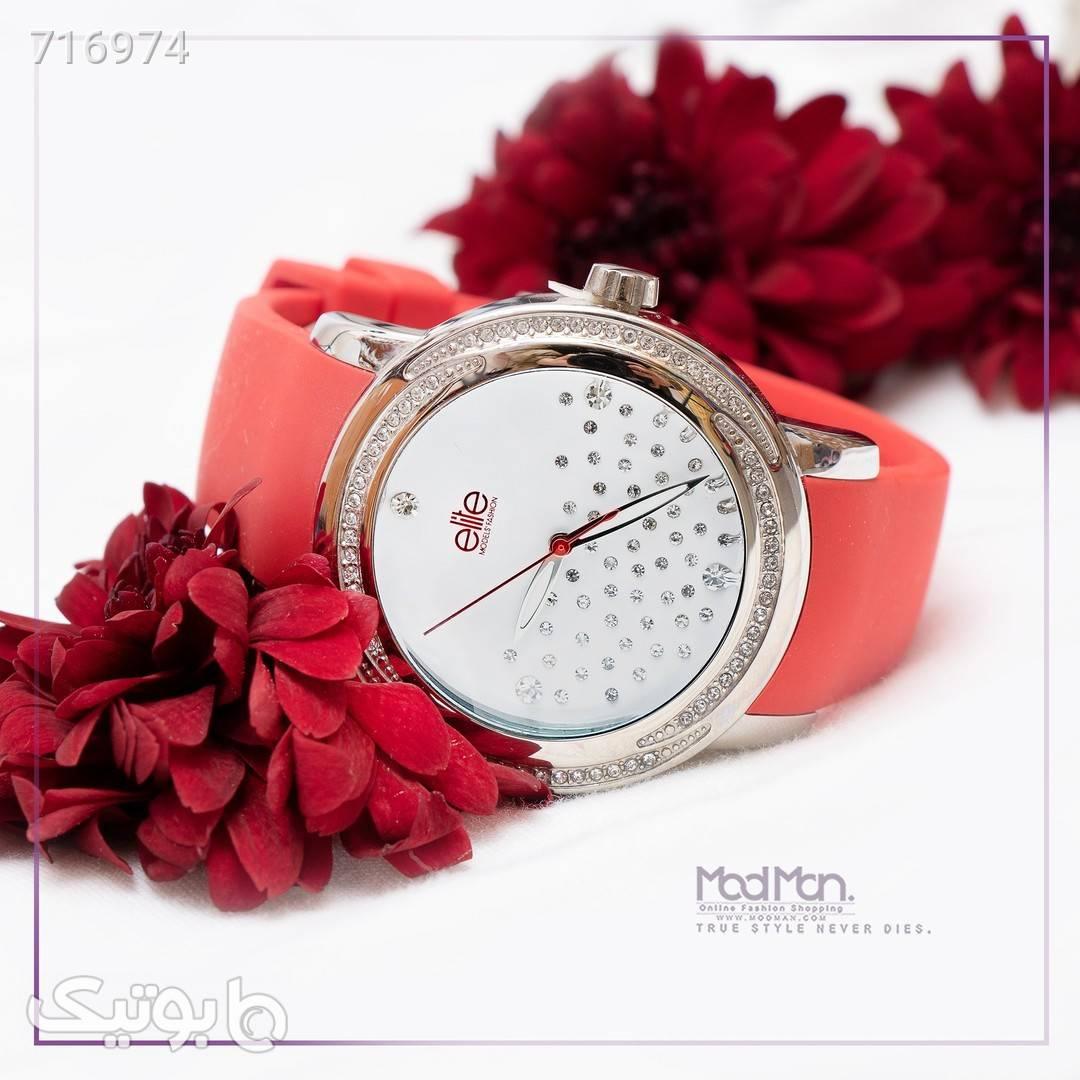 ساعت مچی عقربه ای قرمز ساعت