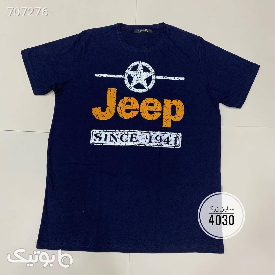 تیشرت Jeep سایز بزرگکد 175  سورمه ای سایز بزرگ مردانه