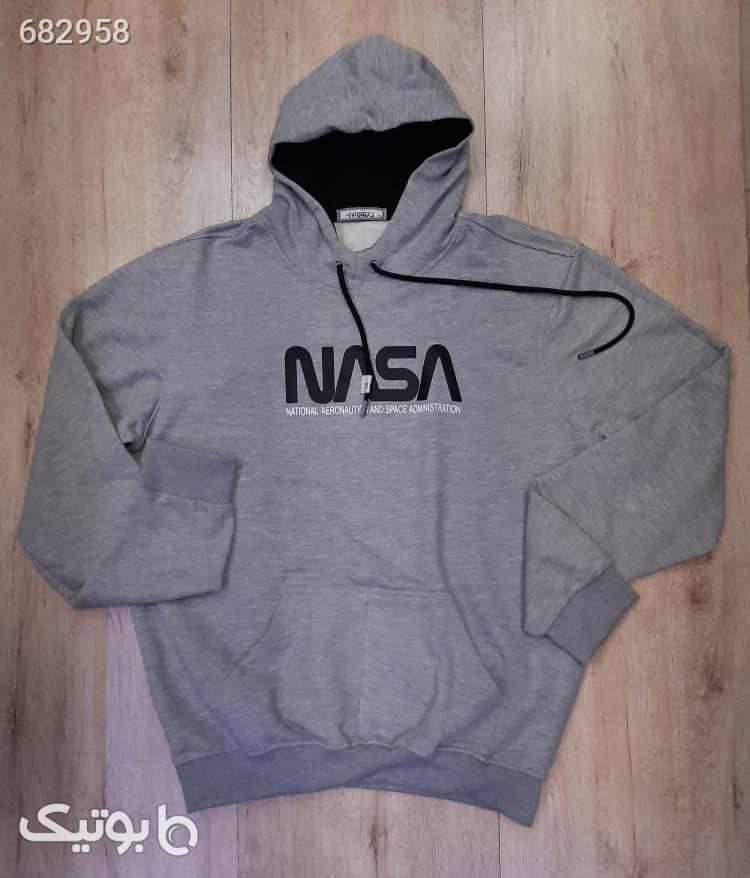 هودی سوئیشرت NASA  نقره ای سایز بزرگ مردانه