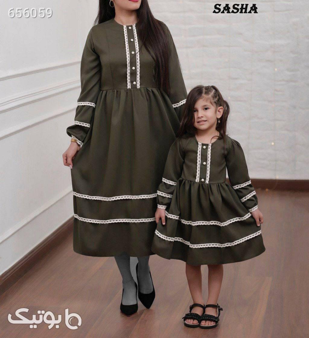 ست مادر و دختر  سبز ست زوج و خانواده