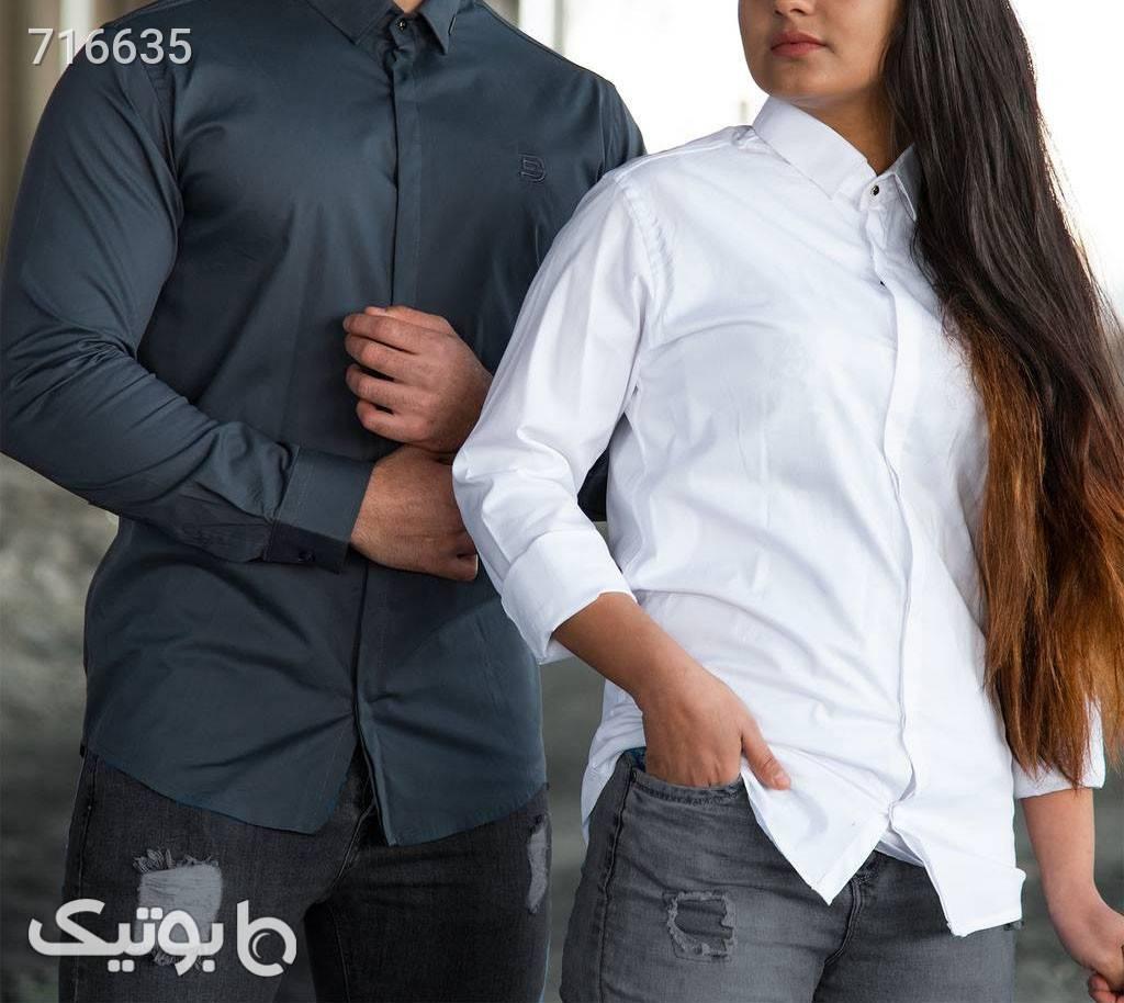 پیراهن ساده اندامی نقره ای ست زوج و خانواده