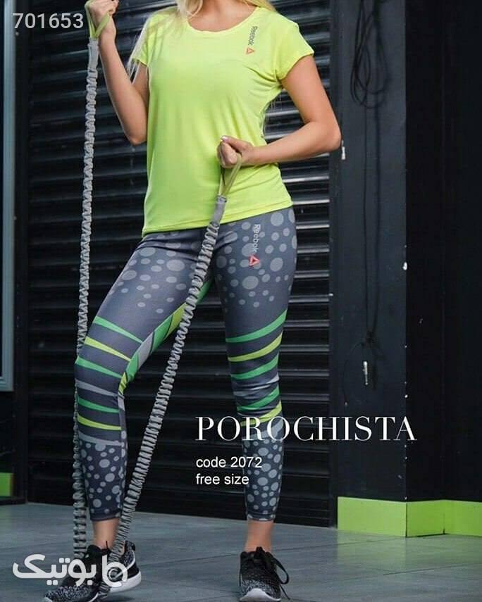 ست تيشرت شلوار سبز ست ورزشی زنانه