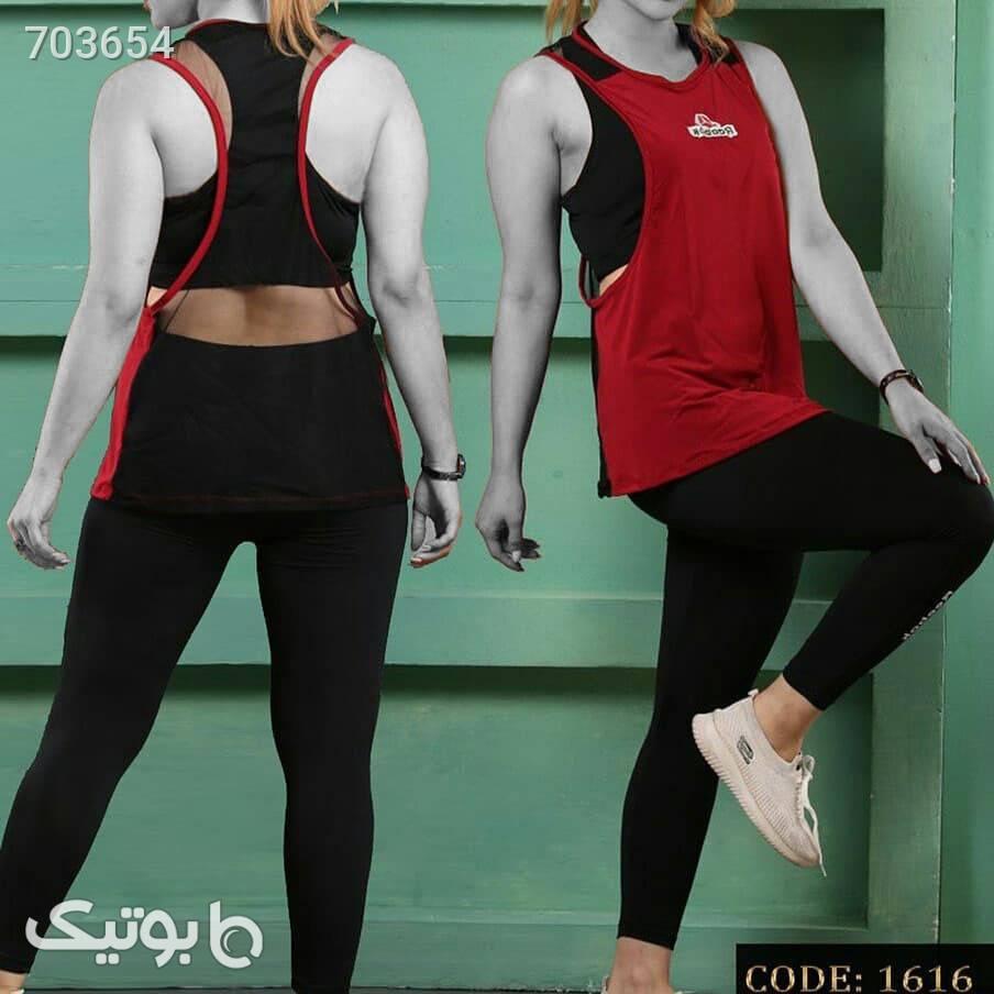 سه تیکه ریبوک قرمز ست ورزشی زنانه