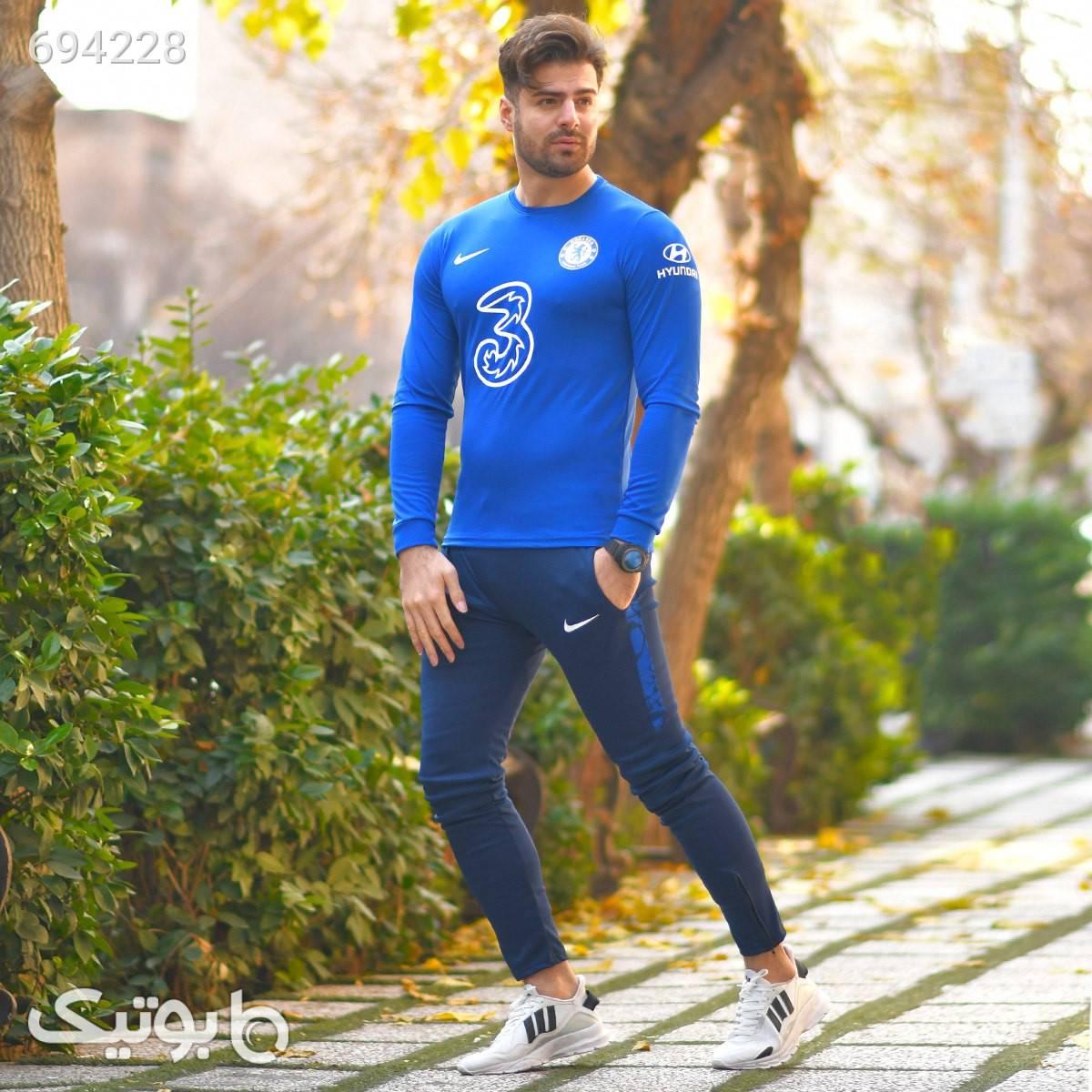 ست تیشرت شلوار ورزشی چلسی آبی ست ورزشی مردانه