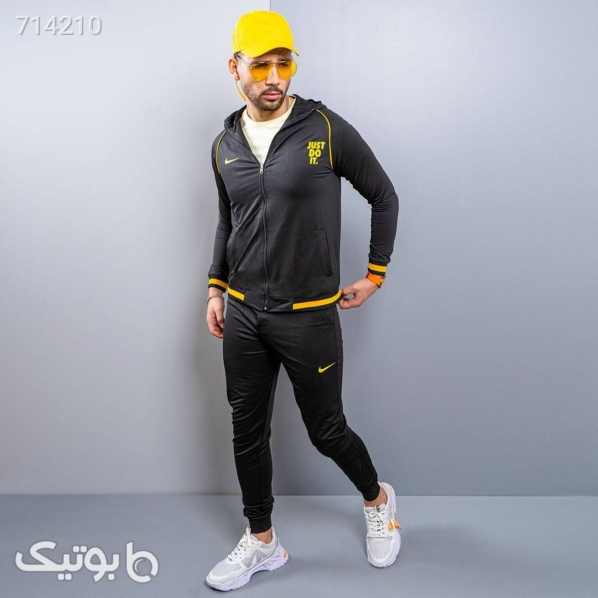 ست سويشرت شلوار مردانه مدل Taner مشکی ست ورزشی مردانه