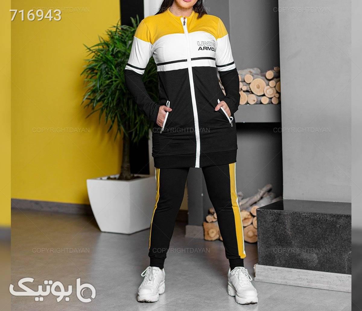 نوع ست : مانتو شلوار  زرد سوئیشرت زنانه