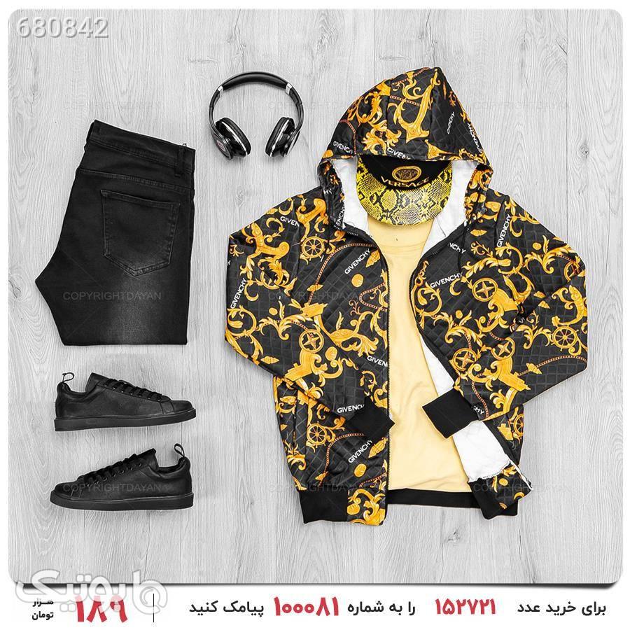 سویشرت مردانه Givenchy مدل 17789 زرد سوئیشرت و هودی مردانه