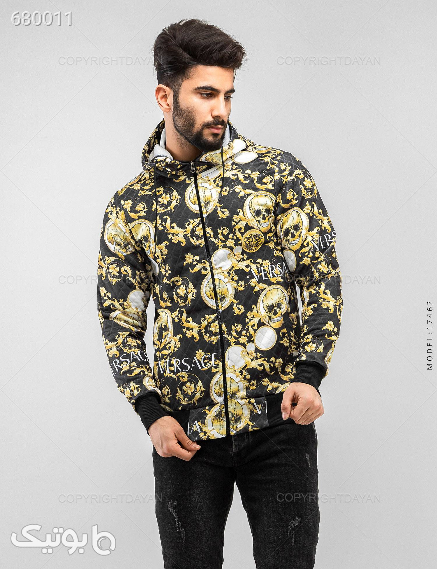 سویشرت مردانه Versace مدل 17462 زرد سوئیشرت و هودی مردانه