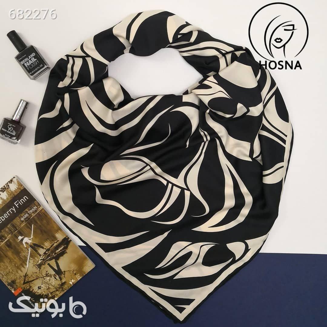 روسری ساتن سایز 120 مشکی شال و روسری