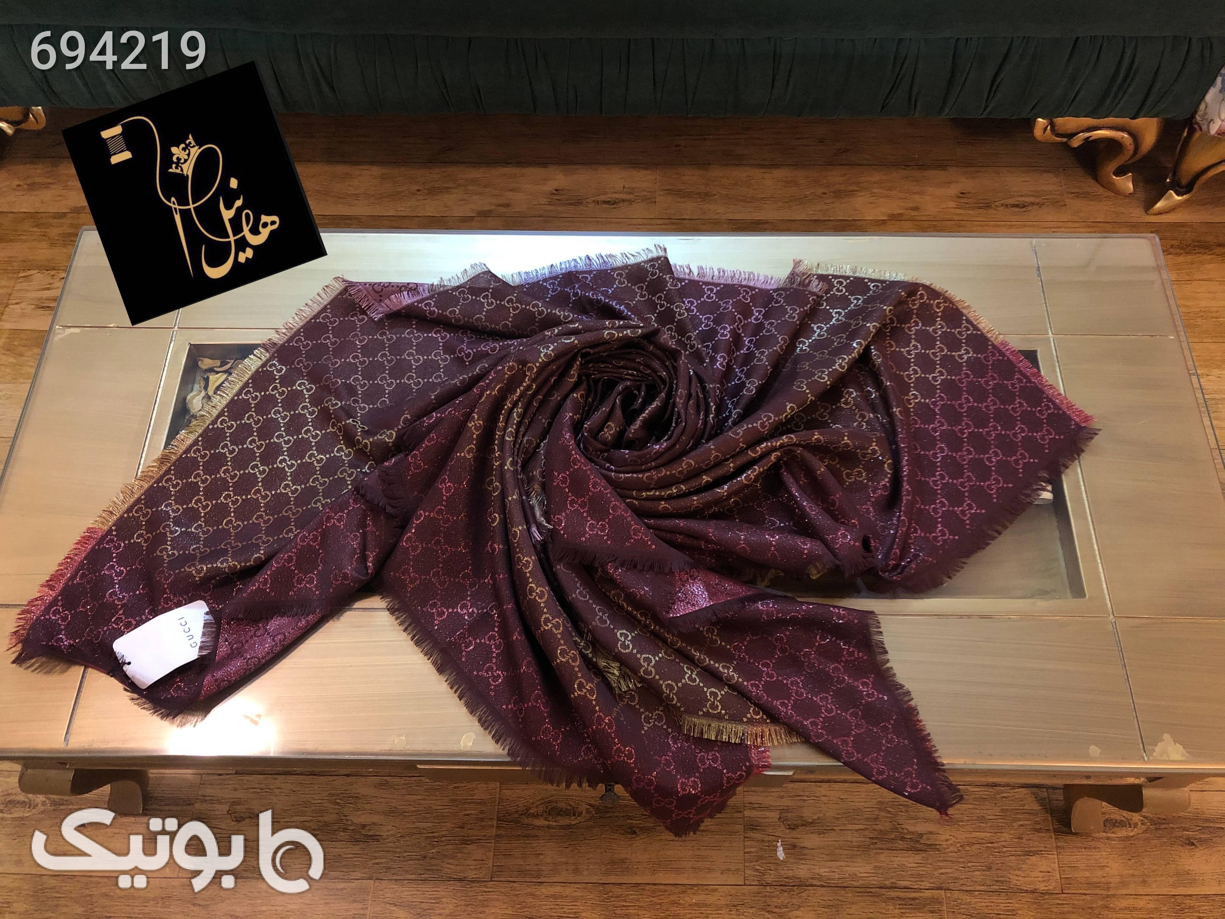 روسری پاییزه قهوه ای شال و روسری