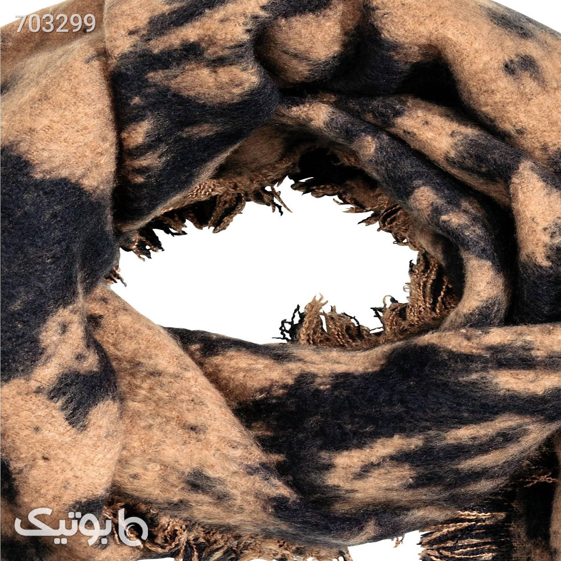 شال بافتزنانه اچ اند ام مدل 00339 قهوه ای شال و روسری
