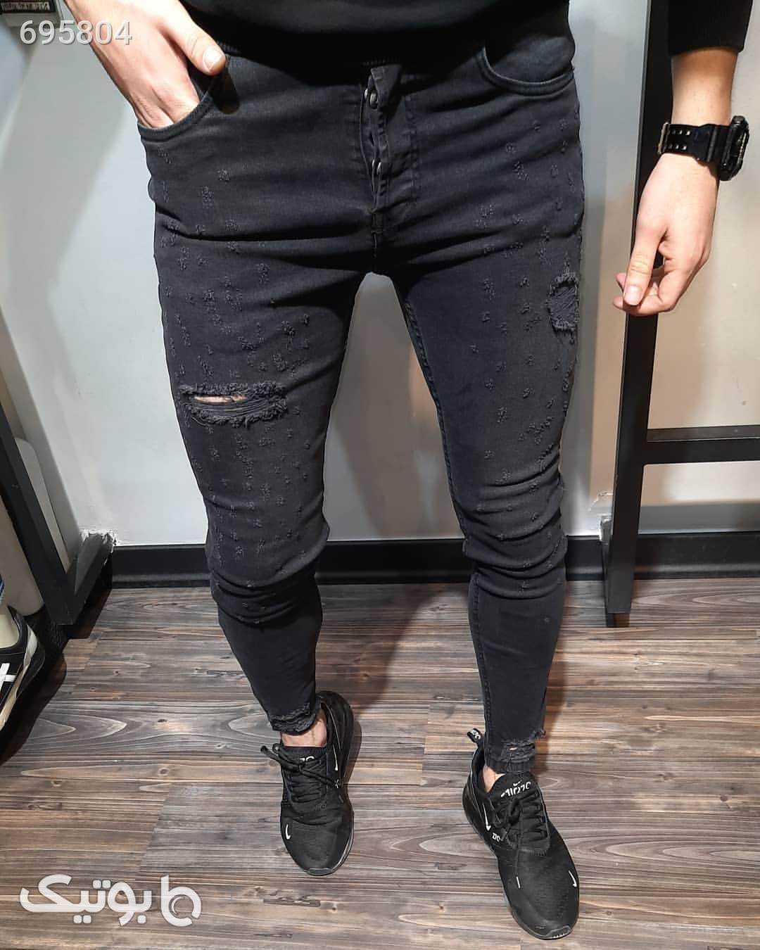 شلوار جین زاپدار آبی شلوار جین مردانه