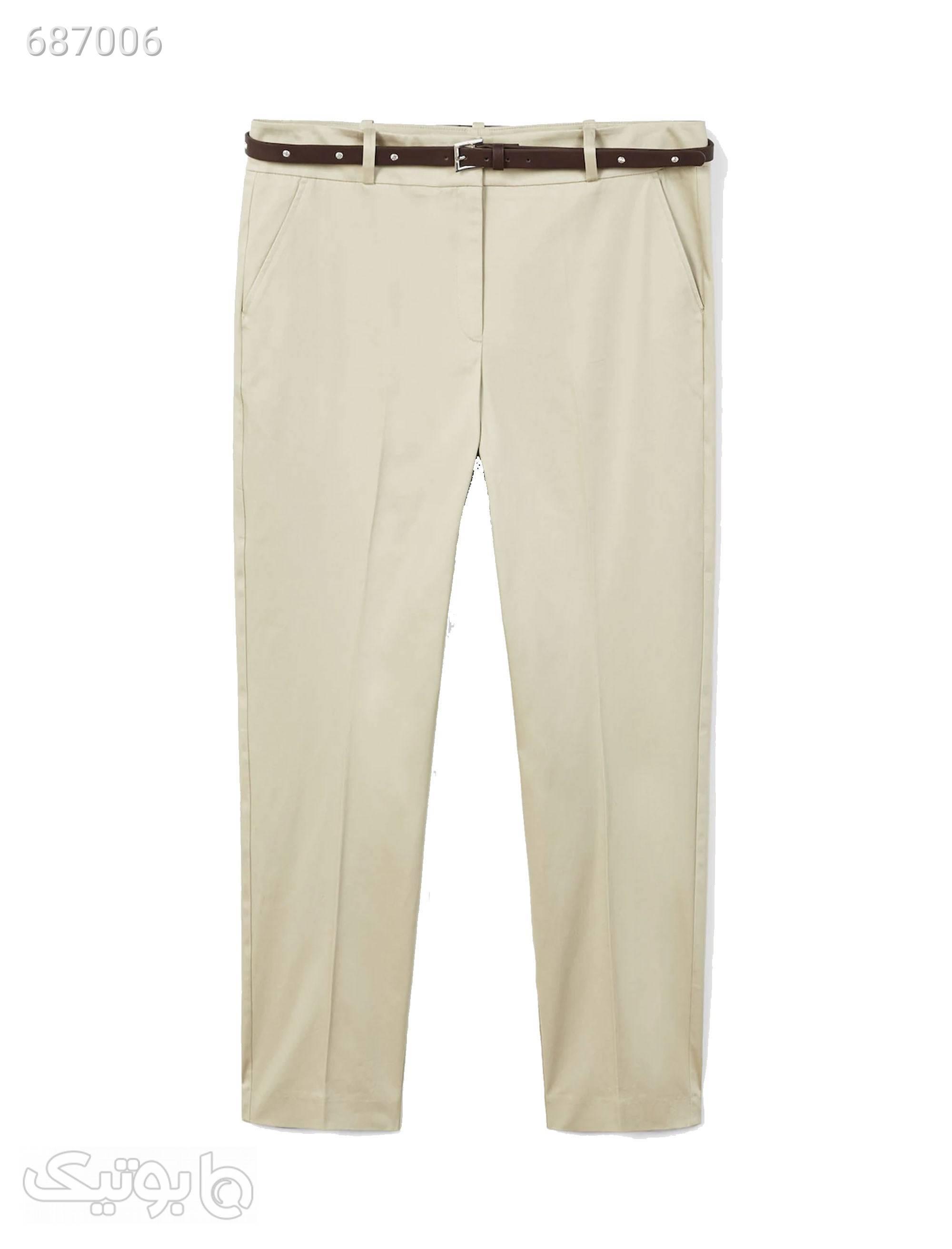 شلوار زنانه ویولتا بای مانگو کد 21043593 سفید شلوار پارچه ای و کتانی زنانه