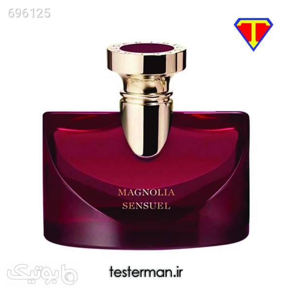 خرید تستر عطر زنانه ادکلن بولگاری اسپلندیدا مگنولیا سنشوال Bvlgari Splendida Magnolia Sensuel زرشکی عطر و ادکلن