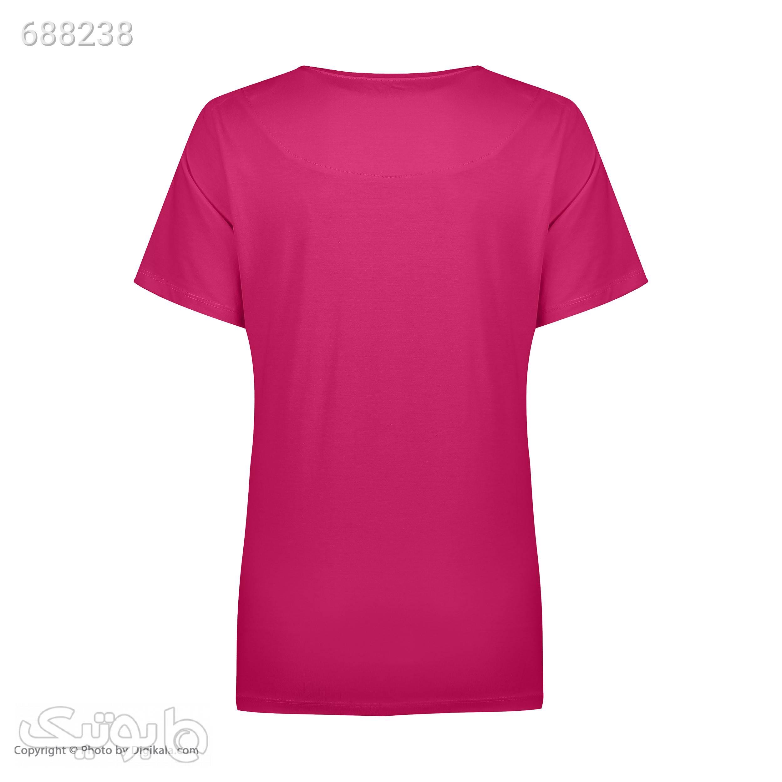 ست تی شرت و شلوارک راحتی زنانه مادر مدل 204110066 صورتی لباس راحتی زنانه