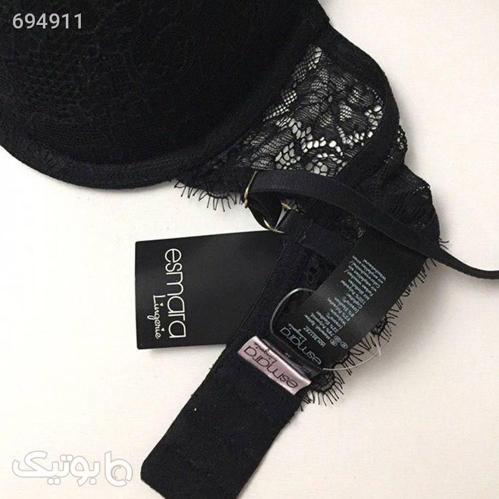 ست شورت و لباس زیر زنانه اسمارا مدل 0322 مجموعه 3 عددی مشکی لباس زیر زنانه
