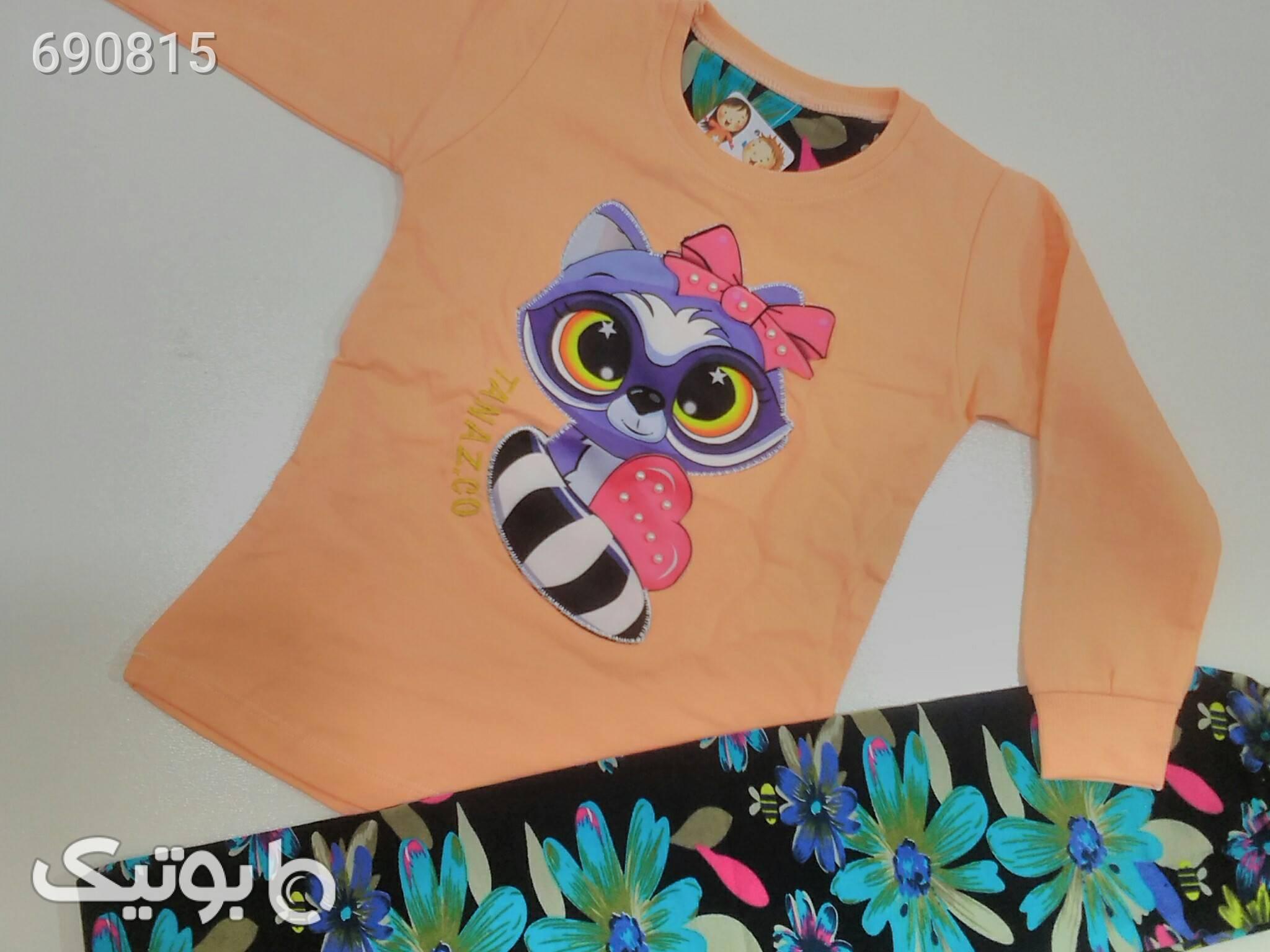 بلوز و شلوار دخترانه نارنجی لباس کودک دخترانه