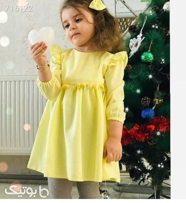 پیراهن شیک سبز لباس کودک دخترانه