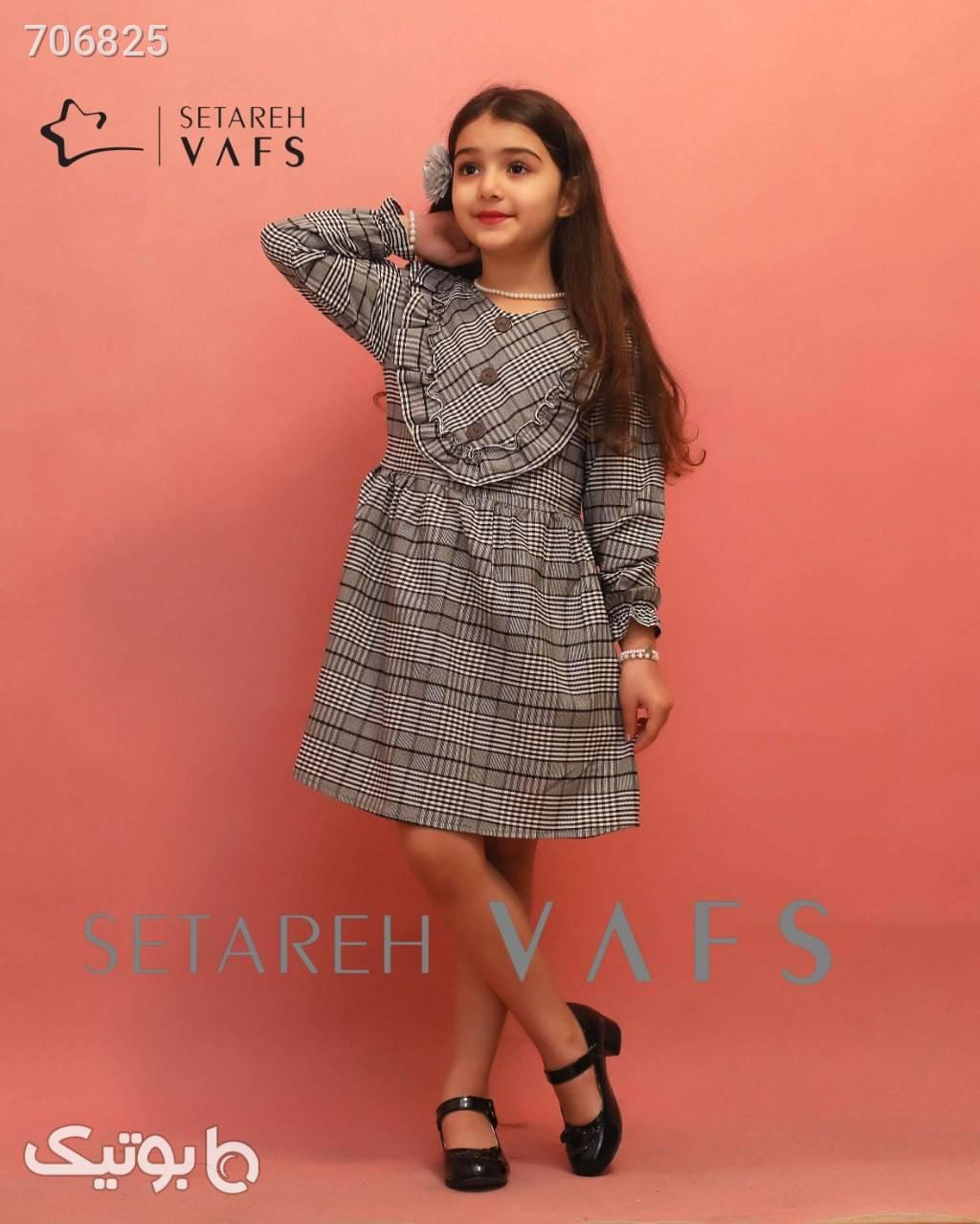 پیراهن عیدانه  طوسی لباس کودک دخترانه
