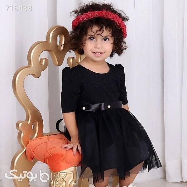 پیراهن مشکی دخترانه مشکی لباس کودک دخترانه