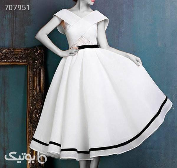 پیراهن مجلسی سفید لباس  مجلسی