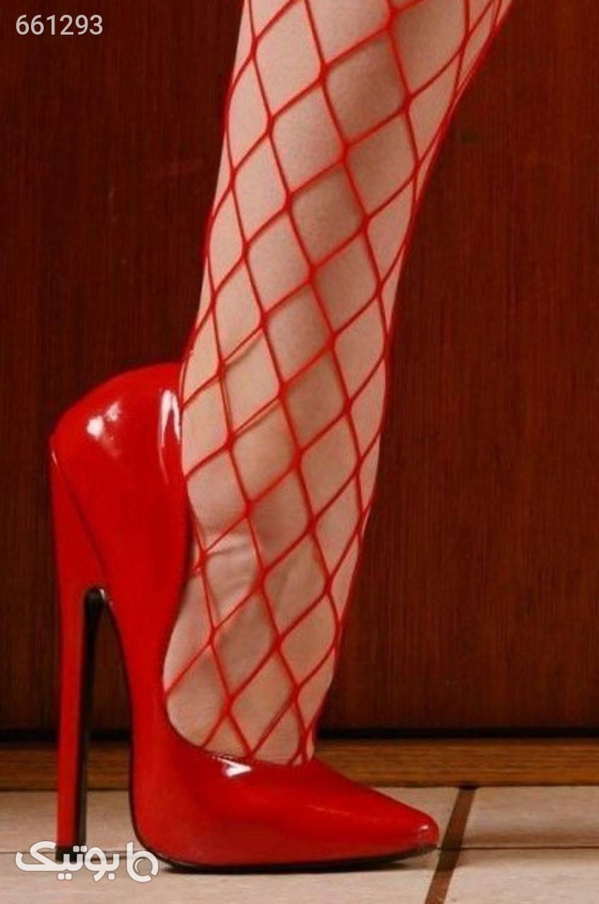جوراب شلواری  قرمز لگ و ساپورت
