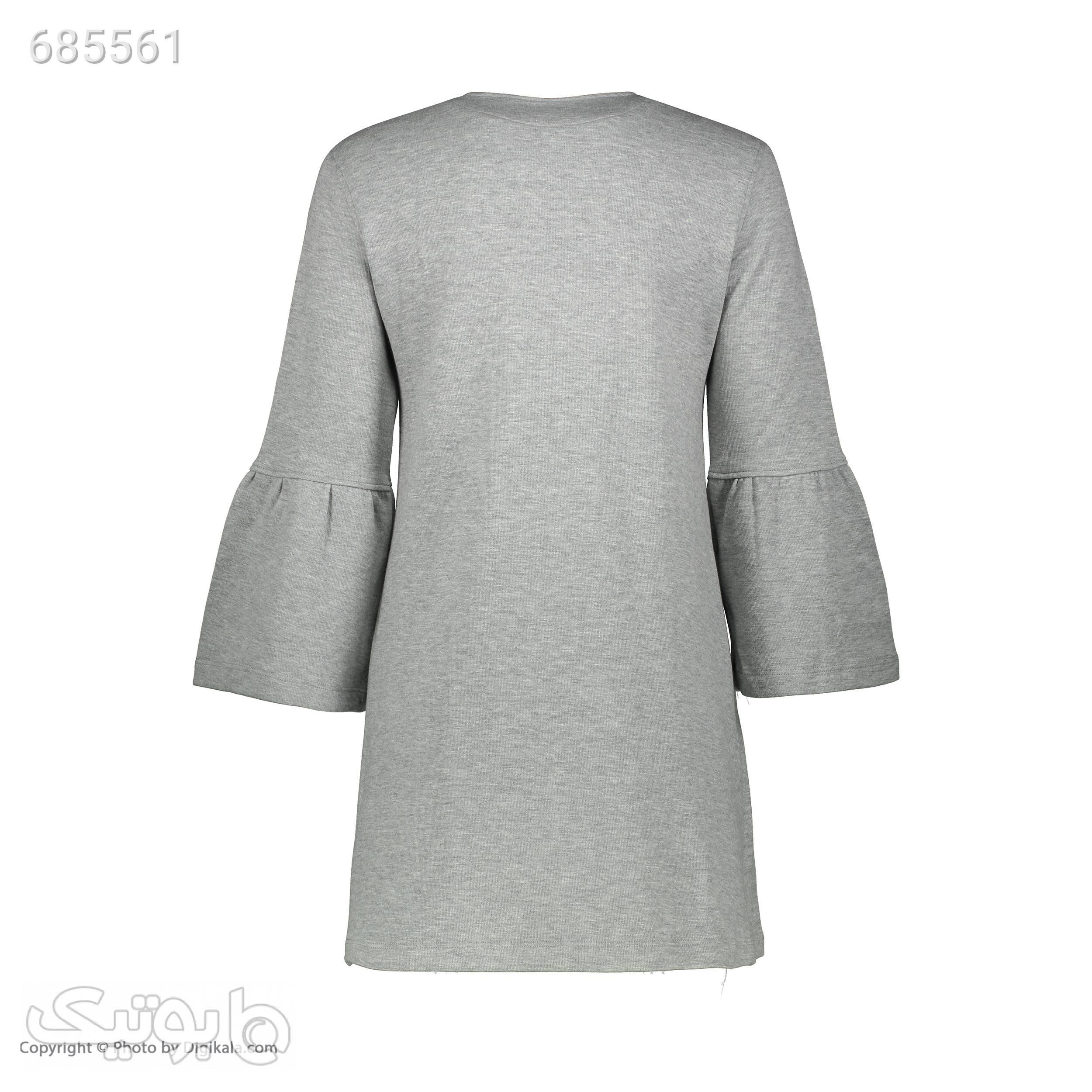 مانتو زنانه جامه پوش آرا مدل 410201803467 طوسی مانتو