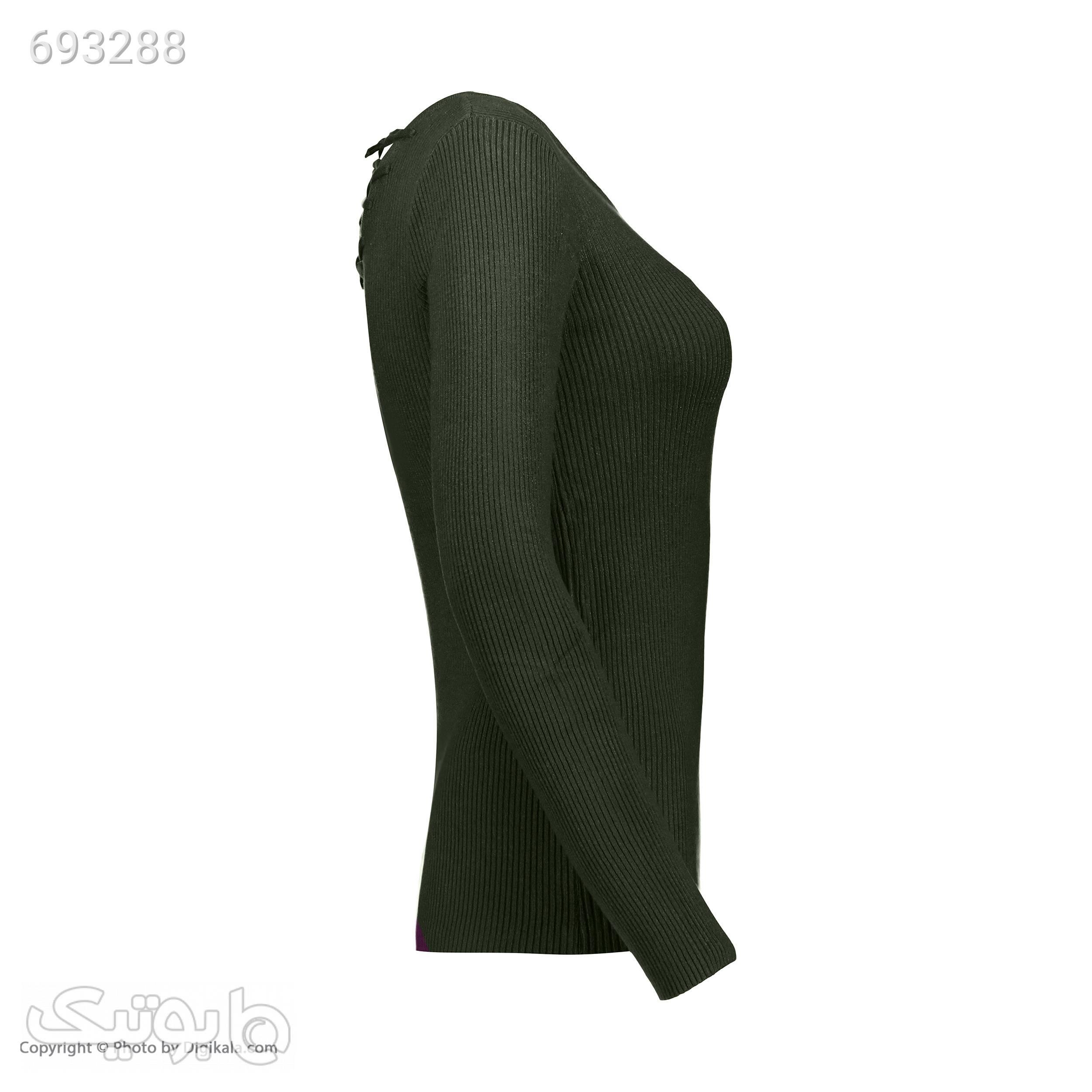 پلیور زنانه آیلار مدل I03700109420907243 سبز پلیور و ژاکت زنانه