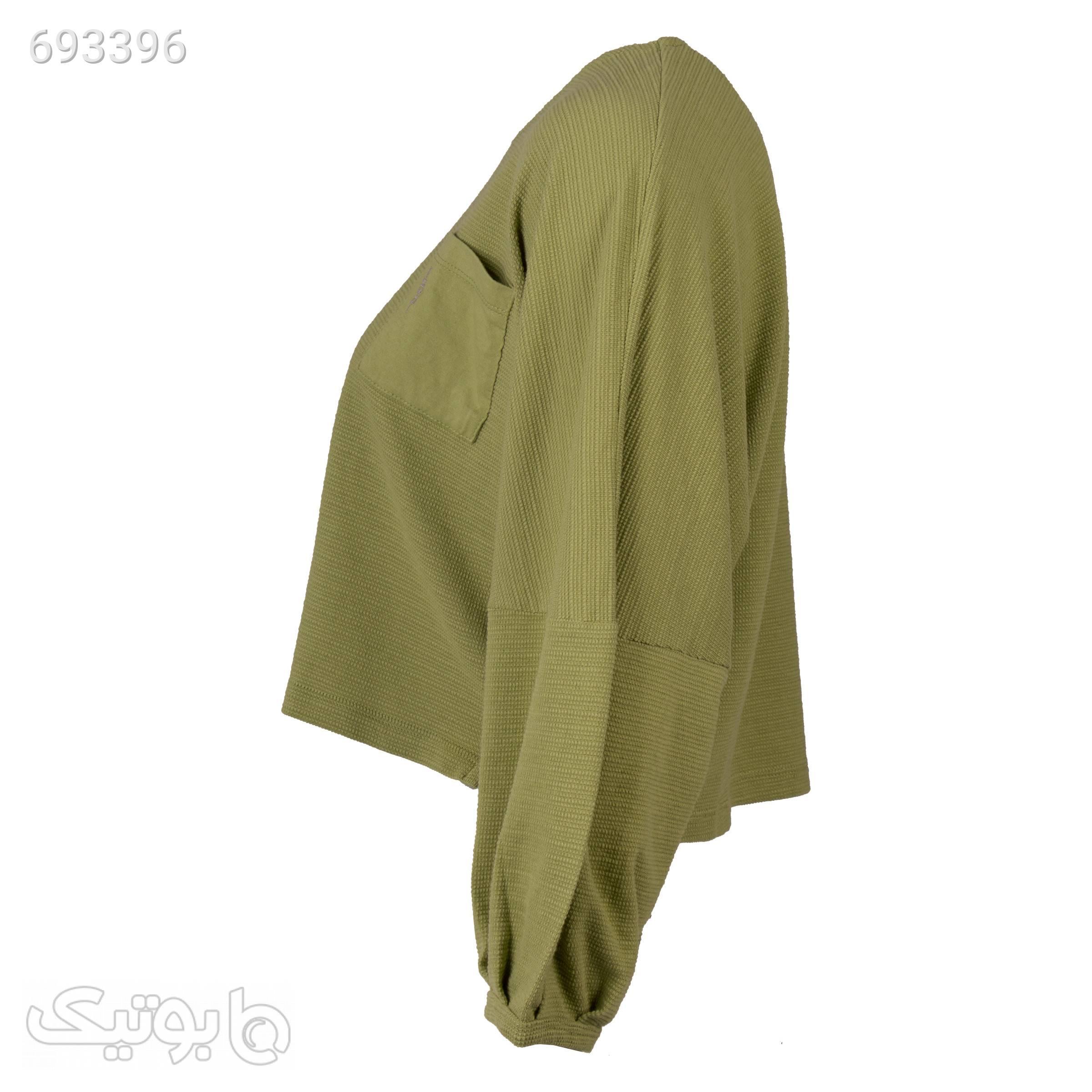 پلیور زنانه سیاوود مدل 7110414GGRE رنگ سبز طوسی پلیور و ژاکت زنانه