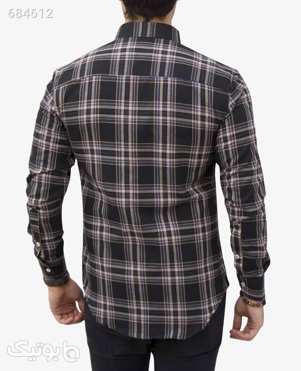 پیراهن چهارخانه مردانه Polo کد 2405BlackS پيراهن مردانه