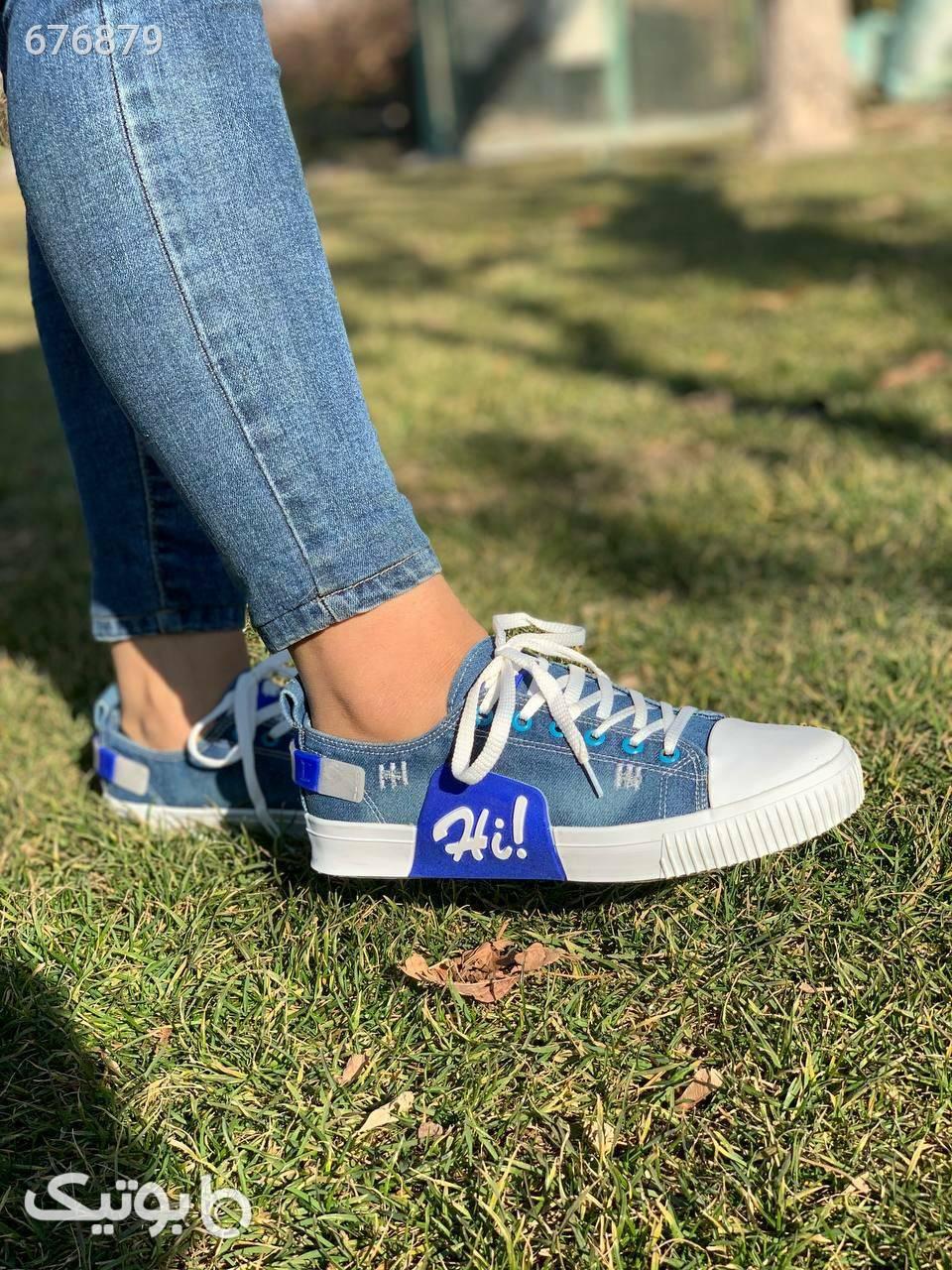 کفش(ارسال رایگان) آبی كتانی زنانه