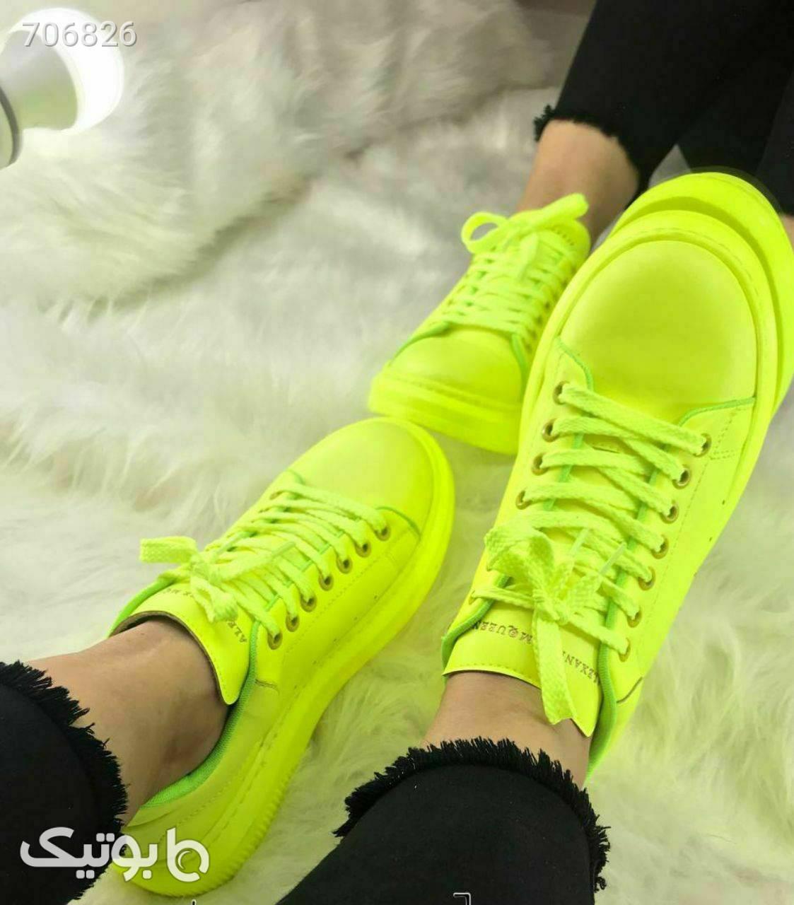 کفش(ارسال رایگان) سبز كتانی زنانه