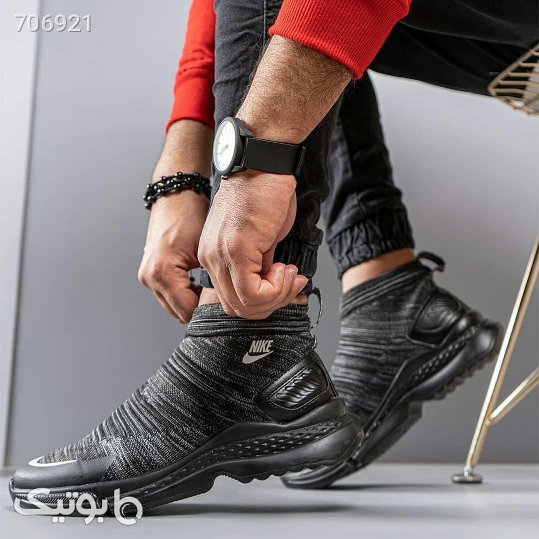 كفش ساقدار مردانه مدل Holden مشکی كتانی مردانه