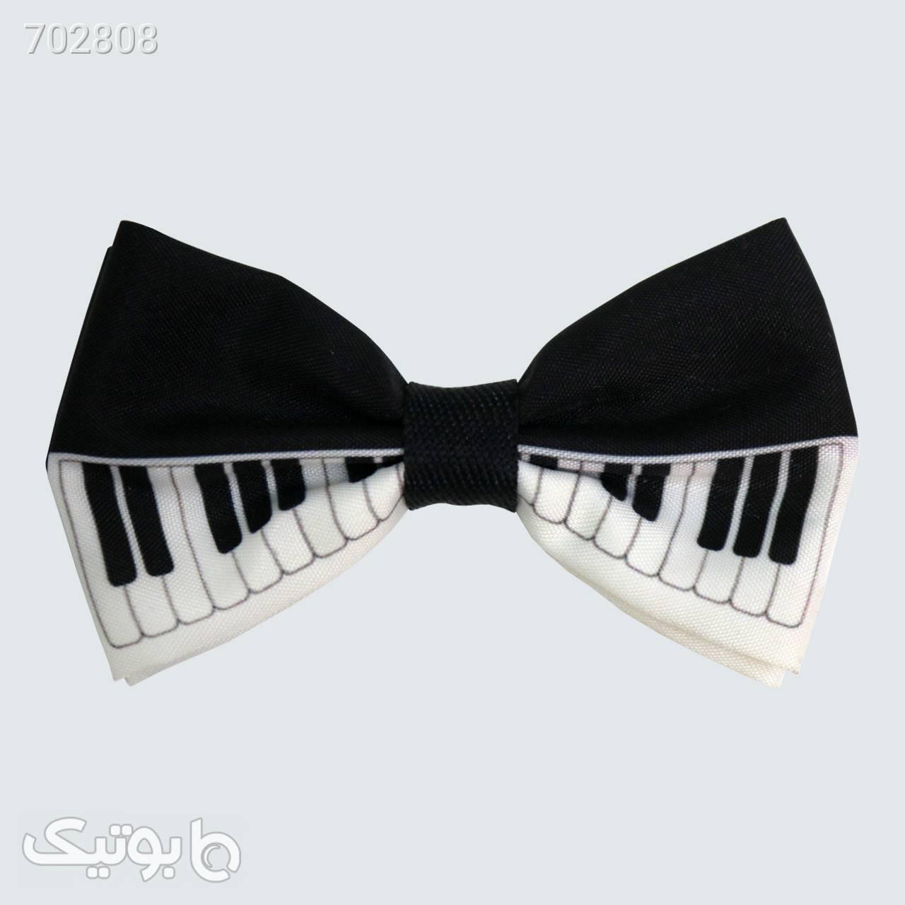 پاپیون مدل پیانو کد 115 مشکی كراوات و پاپيون