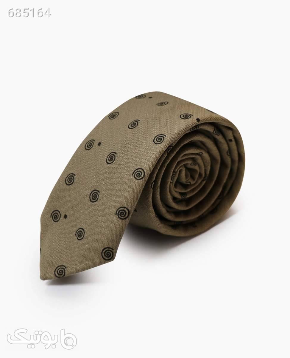 کراوات طرح دار مردانه کد 7169Dark cream كراوات و پاپيون